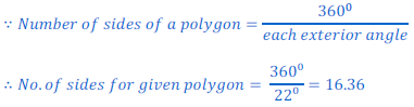 How Many Sides Of Regular Polygon Have If It Has An Exterior Angle Of 22 4868196