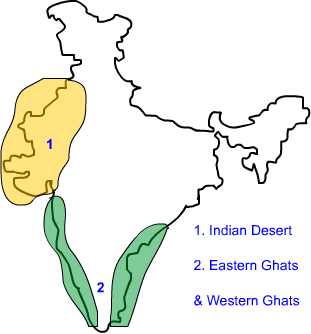 Nine Geography Physical Features Of India Peninsular Plateau