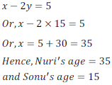 class ten math cbse - Pair of Linear equations in two variables_35, exercise 3.4 - ncert solution