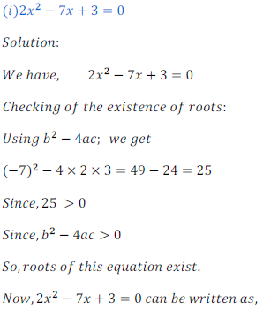 quadratic equation exercise 4.1_1