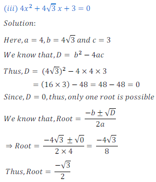 quadratic equation exercise 4.1_13