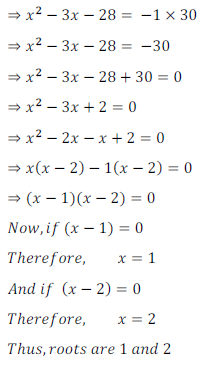 quadratic equation exercise 4.1_18