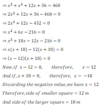 quadratic equation exercise 4.1_31