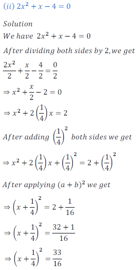 quadratic equation exercise 4.1_4