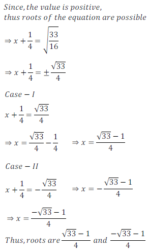 quadratic equation exercise 4.1_5