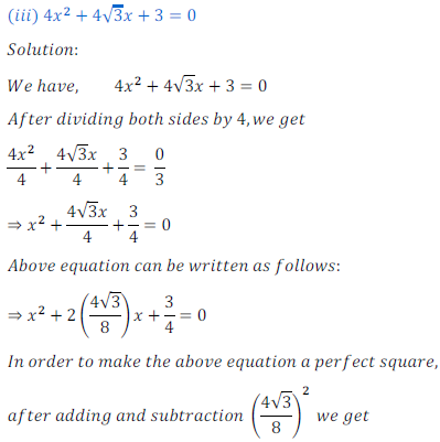 quadratic equation exercise 4.1_6
