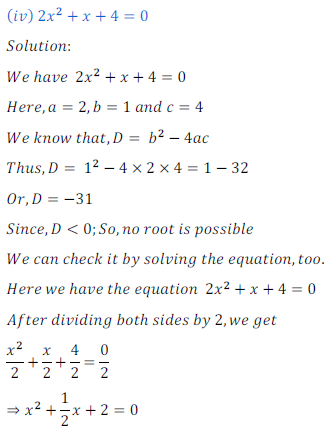 quadratic equation exercise 4.1_8