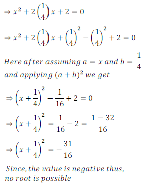 quadratic equation exercise 4.1_9