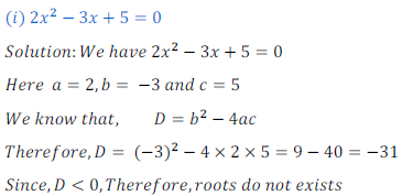 quadratic equation exercise 4.4_1