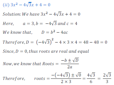 quadratic equation exercise 4.4_2