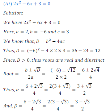 quadratic equation exercise 4.4_3