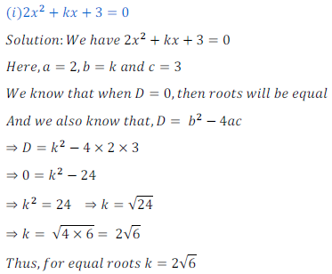 quadratic equation exercise 4.4_4