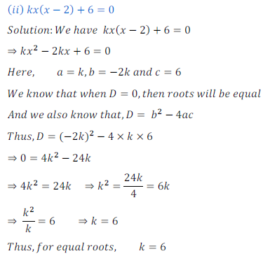 quadratic equation exercise 4.4_5