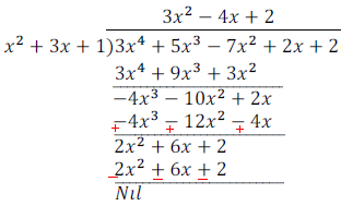 division alogrithm for polynomials-ncert exercise 2 3